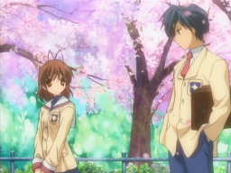 Clannad - Tomoya's and Nagisa's first meeting